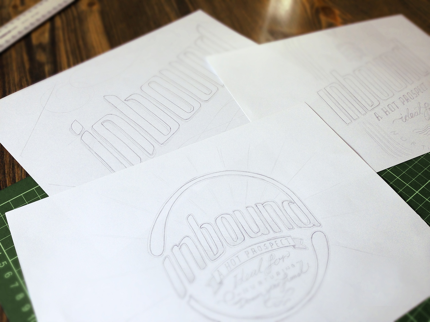 The initial design of a beer bottle label packaging design